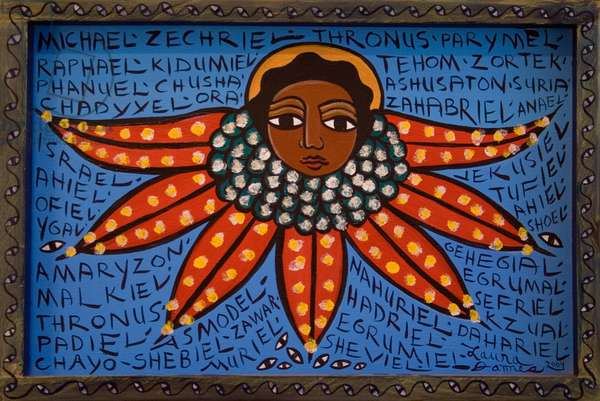 Names of Angels, 2002 (acrylic on canvas)