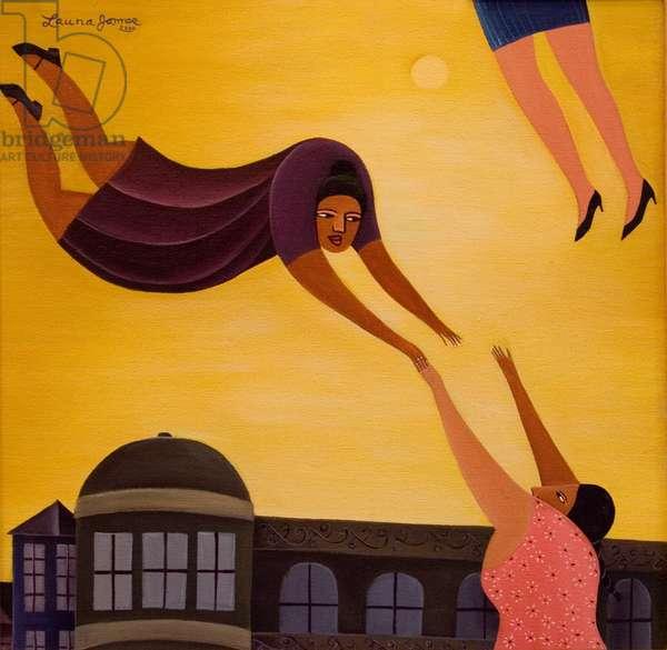 Women Flying, 2000 (acrylic on canvas)