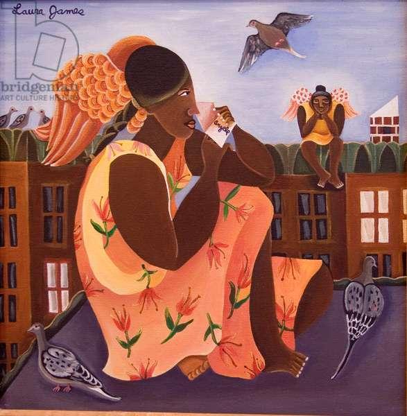 Brooklyn Angels, 1998 (acrylic on canvas)