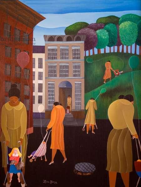 Stroll, 1995 (acrylic on canvas)