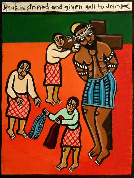 Jesus is Stripped and Given Gall to Drink, 2006 (acrylic on canvas)