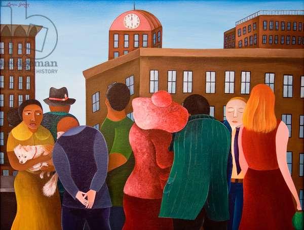 Six O'Clock, 2005 (acrylic on canvas)