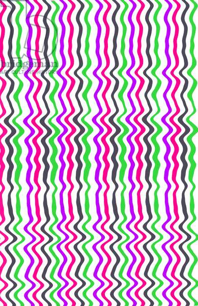 Wavy Stripe, 2014 (digital media)