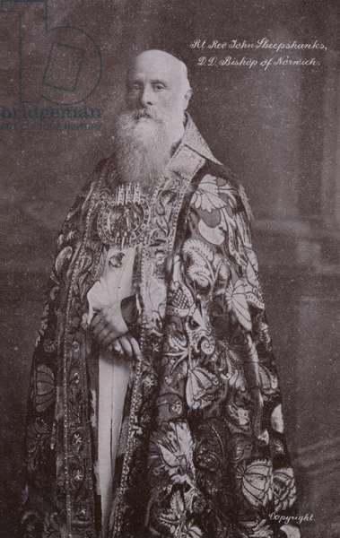Bishop of Norwich, Rt Rev John Sheepshanks, DD (b/w photo)