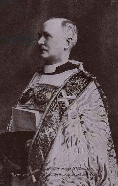 Bishop of Bath and Wells, Rt Rev George W Kennion, DD (b/w photo)