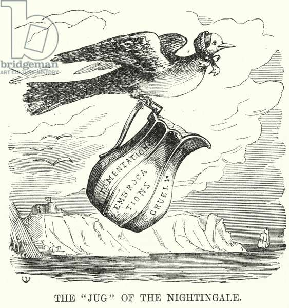Punch cartoon: the Jug of the Nightingale - Florence Nightingale and the Crimean War (engraving)