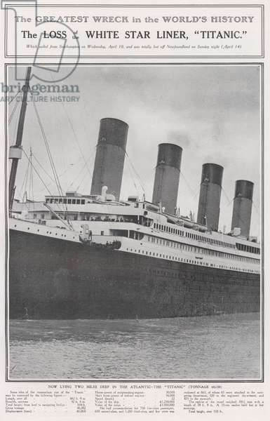 The Loss of the White Star Liner, Titanic (b/w photo)