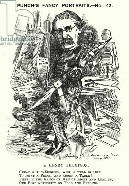 Punch cartoon: Sir Henry Thompson, English surgeon (engraving)