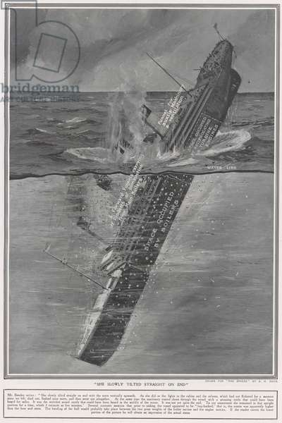 Last phase of The Titanic (litho)