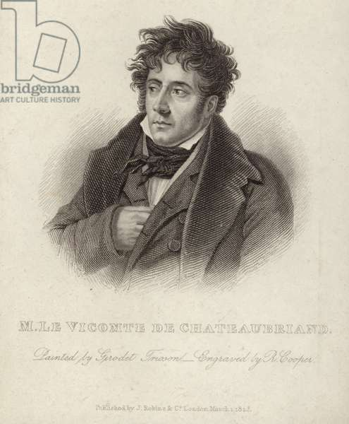 Portrait of vicomte de Chateaubriand (engraving)