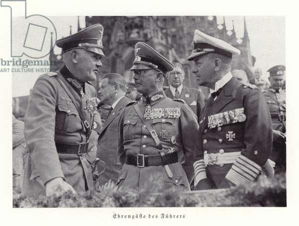 Honourable guests of Hitler, Nuremberg Rally, 1936 (b/w photo)