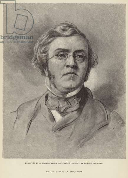 Portrait of William Makepeace Thackeray (engraving)