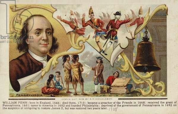 William Penn (coloured lithograph)
