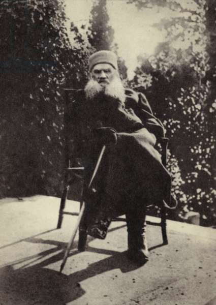 L N Tolstoi, The Crimea, 1901 (b/w photo)