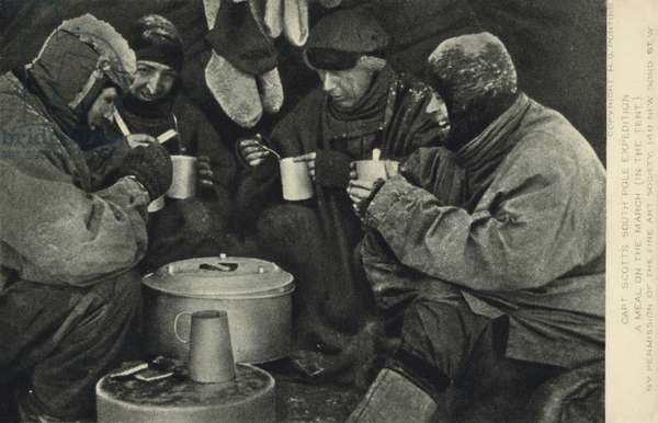 Captain Scott's South Pole expedition, 1910-1912 (b/w photo)