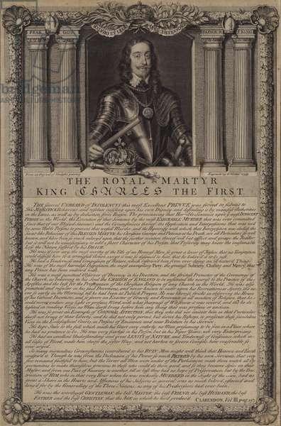 The royal martyr King Charles I (engraving)