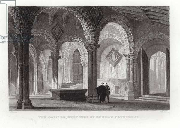 The Galilee at the west end of Durham Cathedral (engraving)