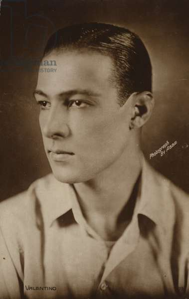 Rudolph Valentino, Italian actor and film star (b/w photo)