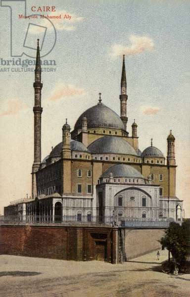 Mosque of Muhammad Ali, Cairo, Egypt (coloured photo)
