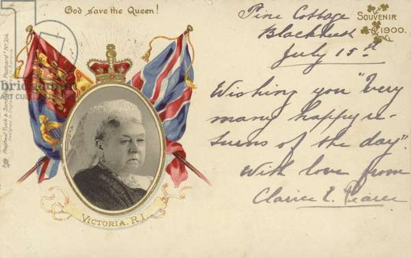Queen Victoria, 1900 (colour litho)