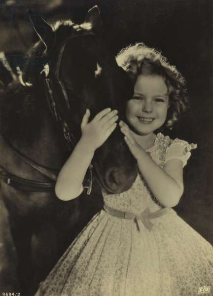 Shirley Temple, American actress and film star (b/w photo)