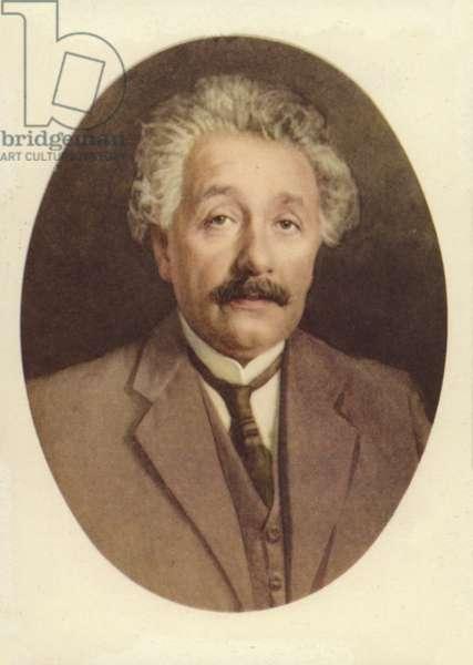 Albert Einstein (1879-1955), German-born theoretical physicist (colour litho)