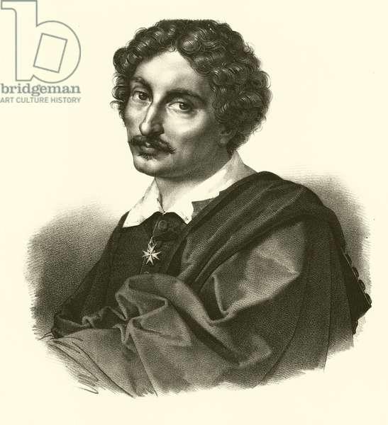 Michelangelo Merisi da Caravaggio, portrait (engraving)