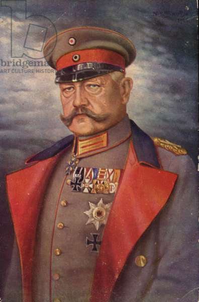 Paul von Hindenburg (colour litho)