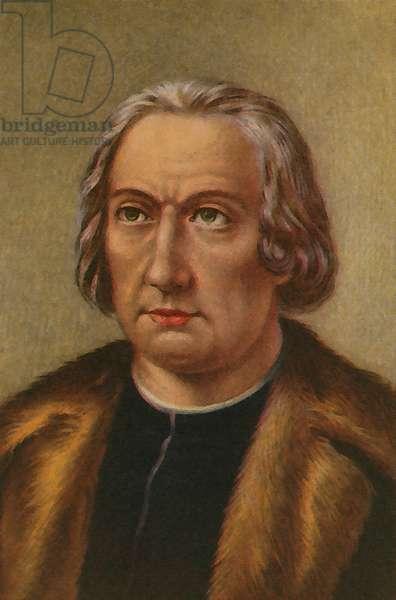 Christopher Columbus (colour litho)