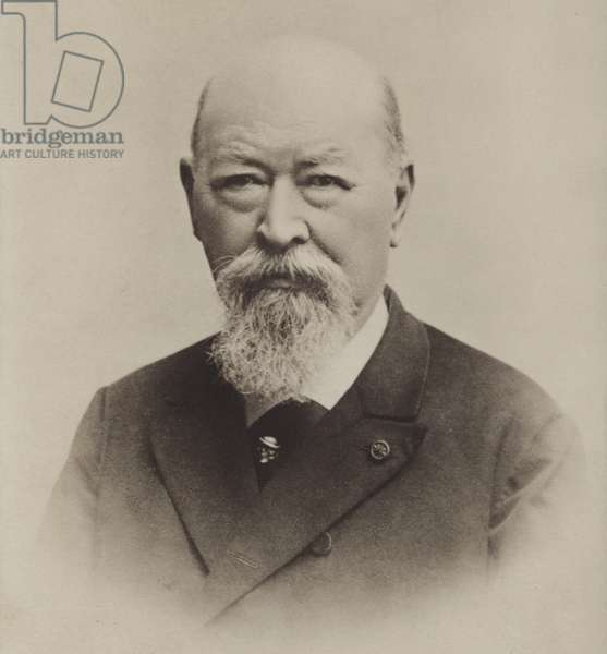Portrait of Franz von Suppe (b/w photo)