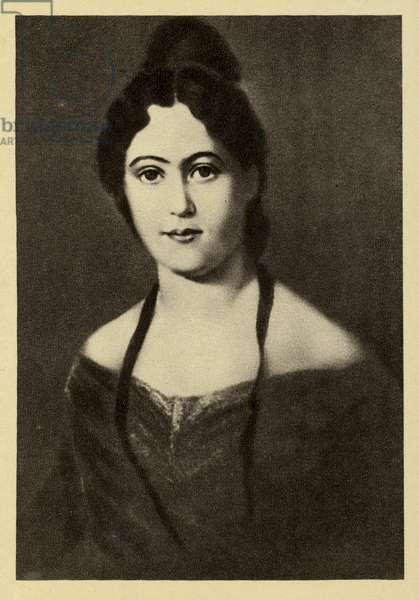 Jenny von Westphalen (1814-1881), wife of Karl Marx (litho)