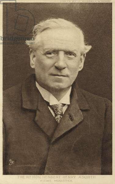 H H Asquith (b/w photo)
