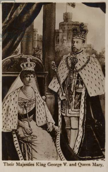 George V and Mary of Teck (b/w photo)
