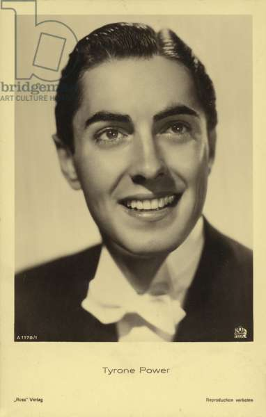 Tyrone Power (b/w photo)