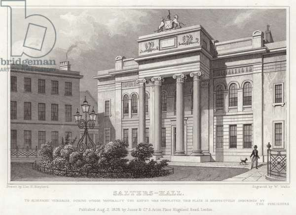 Salters Hall on St. Swithin's Lane (engraving)