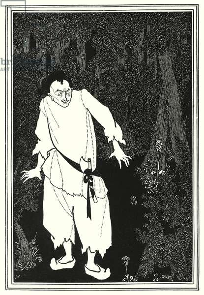 Ali Baba in the wood (engraving)