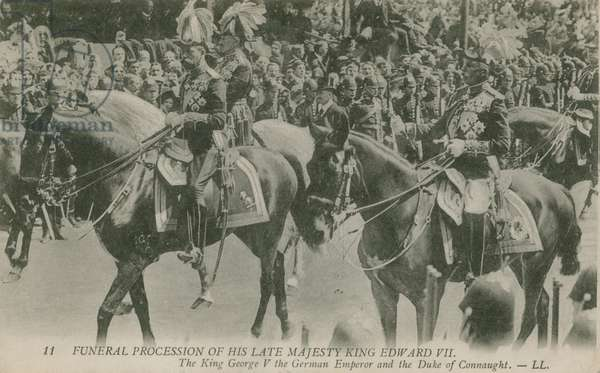 Funeral procession of Edward VII (b/w photo)