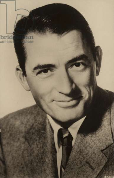 Gregory Peck, American actor and film star (b/w photo)