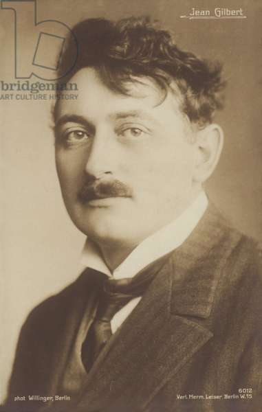 Jean Gilbert, German operetta composer (1879-1942) (b/w photo)
