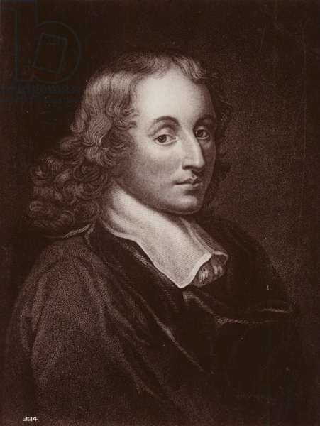 Blaise Pascal (1623-1662), French mathematician, physicist and philosopher (litho)