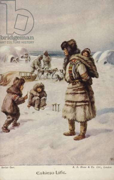Eskimo Life (colour litho)