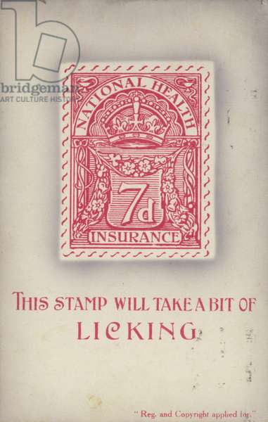 This stamp will take a bit of licking (colour litho)