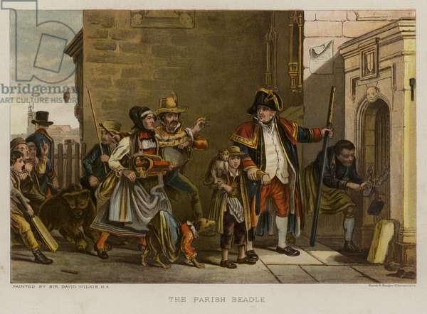 The Parish Beadle (colour litho)