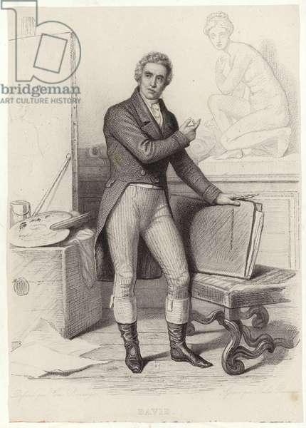 Jacques-Louis David, French painter (engraving)