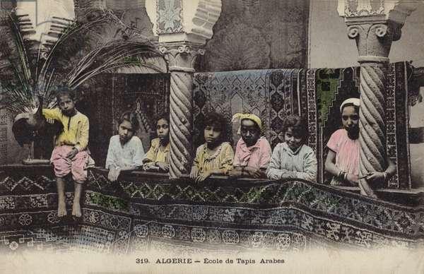 School of Arab carpet making, Algiers, Algeria (coloured photo)