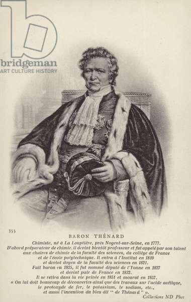 Louis Jacques Thenard (1777-1857), French chemist (litho)