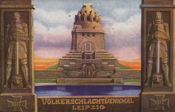 Monument to the Battle of the Nations, Leipzig, Germany (colour litho)