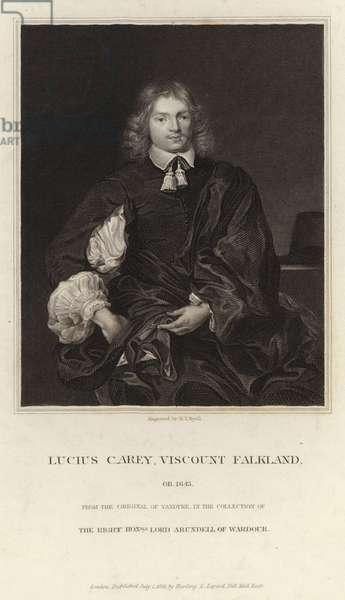 Lucius Carey, Viscount Falkland, ob 1643 (engraving)