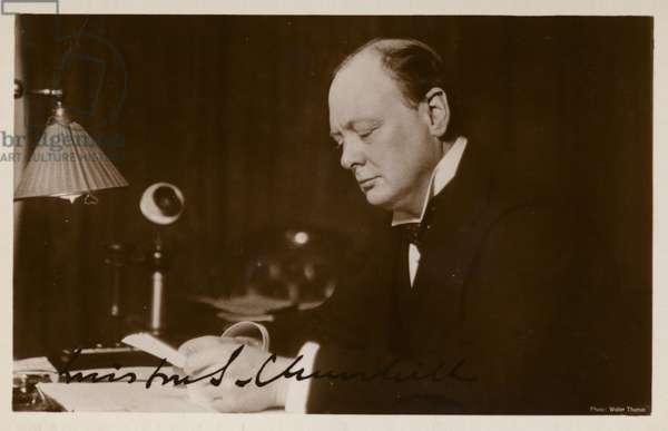 Winston Churchill (b/w photo)