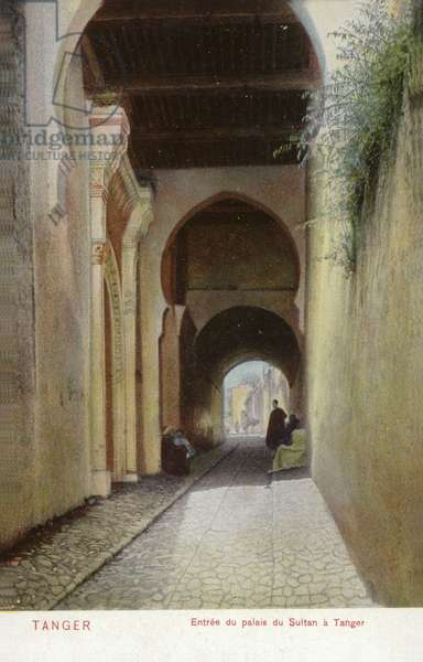 Entrance of the Sultan's Palace, Tangier (coloured photo)